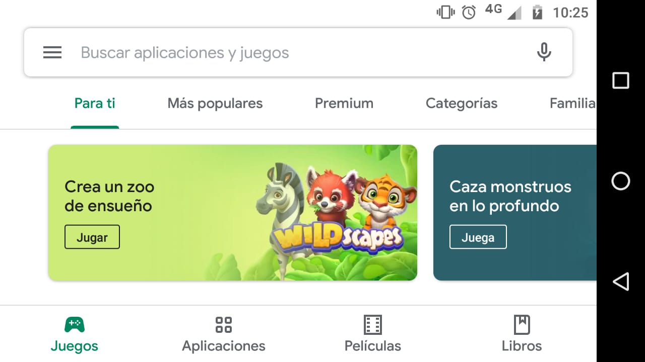 Rediseño del Play Store. (Foto: Captura)