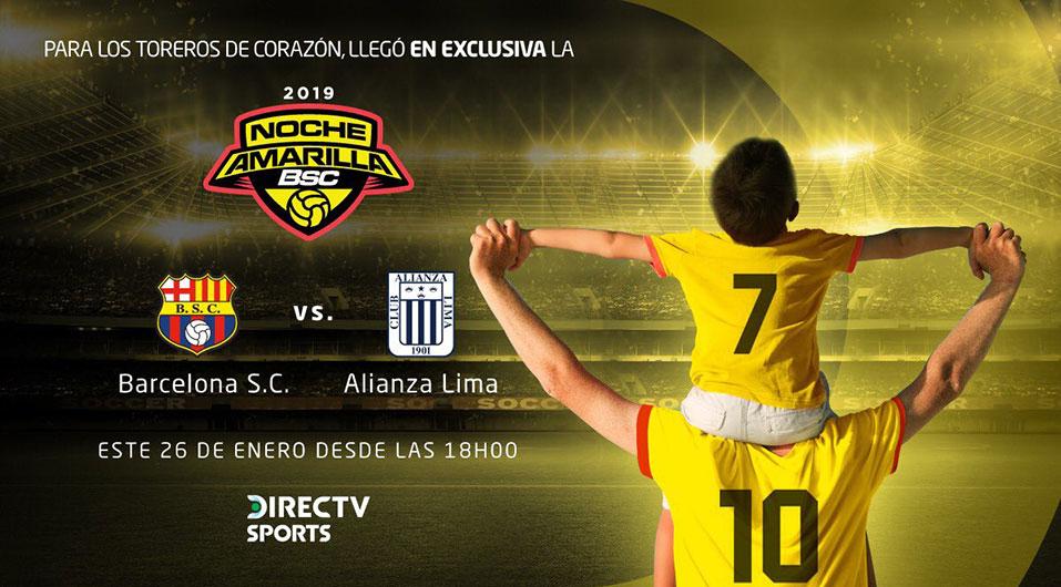 Alianza Lima vs. Barcelona EN VIVO el partido por la Noche Amarilla por DirecTV Sports