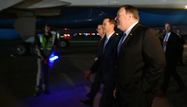 El secretario de Estado de EE.UU., Mike Pompeo, aterrizó en Bagdad el 7 de mayo en una visita inesperada, luego de que canceló un viaje a Alemania en medio de las crecientes tensiones entre Estados Unidos e Irán. (Foto: AFP)