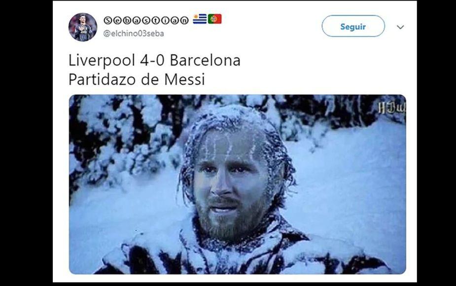 Eliminación del Barcelona tras goleada del Liverpool dejó estos memes