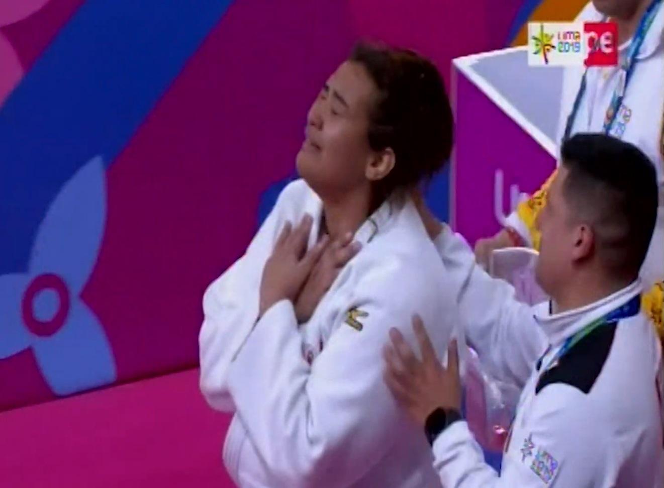 La emotiva celebración tras obtener medalla de bronce