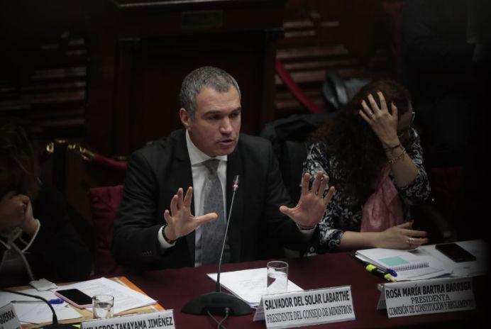 """Del Solar: """"Hay un margen para propuestas adicionales"""" del Congreso a la reforma"""