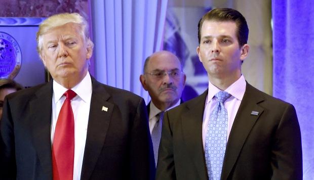 Un comité del Senado cita a declarar al hijo mayor del presidente Trump