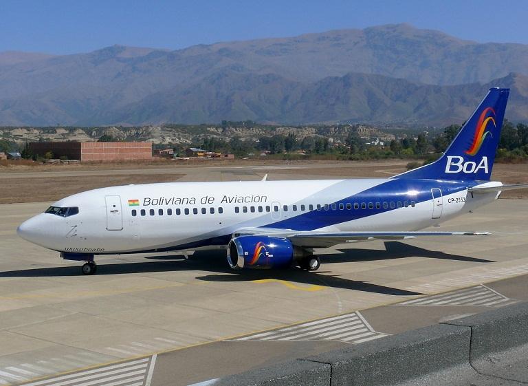 Bolivia fortalece aerolínea estatal BoA con US$ 17.5 millones