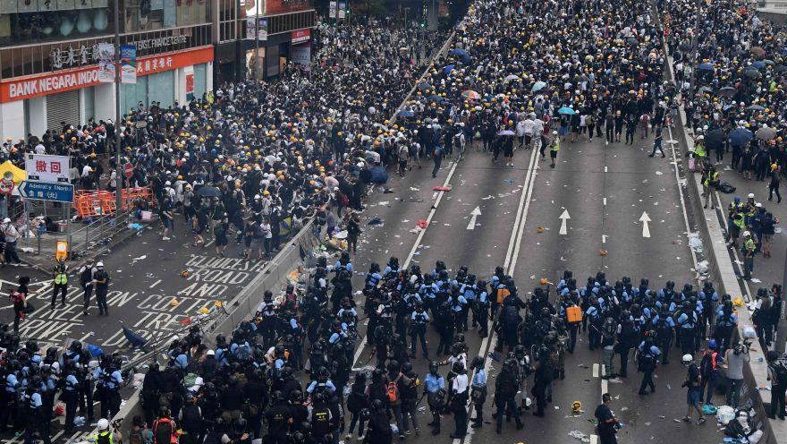 La masiva protesta contra ley de extradición en Hong Kong [FOTOS]