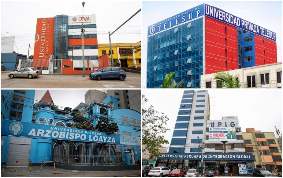 Estas son las 9 universidades con licencia denegada por Sunedu y que deberán cerrar