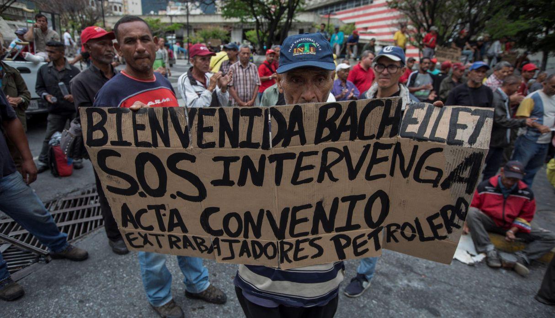 Venezuela: Ex trabajadores en huelga de hambre piden ayuda a Bachelet   FOTOS