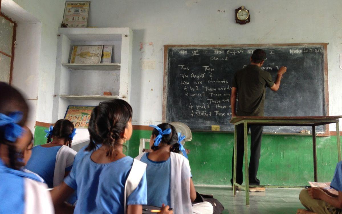 María Antonieta Alva hizo trabajo de campo en una escuela del estado de Rayastán. (Foto: Blog New Delhi, New Deals)