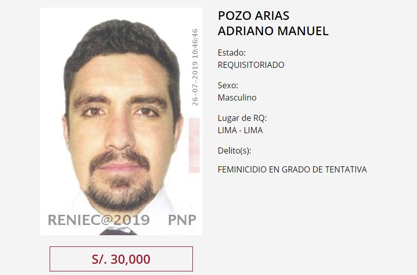 Mininter ofrece S/30 mil a quien brinde información sobre el paradero de Adriano Pozo. (Programa de recompensa)