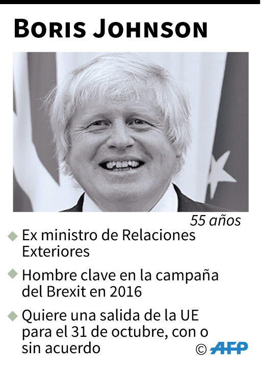 Ficha de Boris Johnson. (AFP)