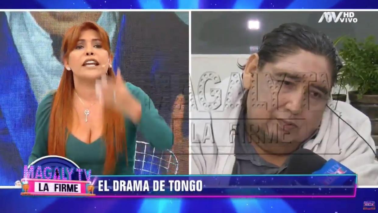 Magaly y Tongo tuvieron altercado en vivo