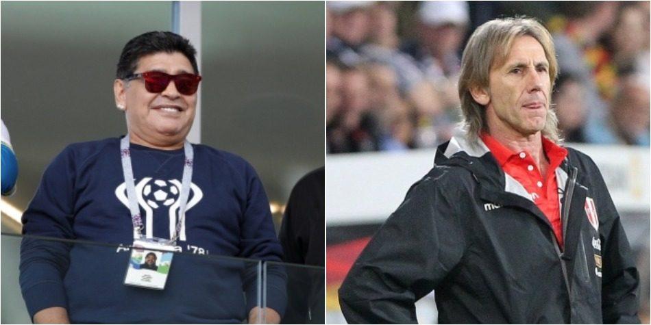 Selección peruana: Ricardo Gareca postulado como DT de la Albiceleste por Diego Maradona