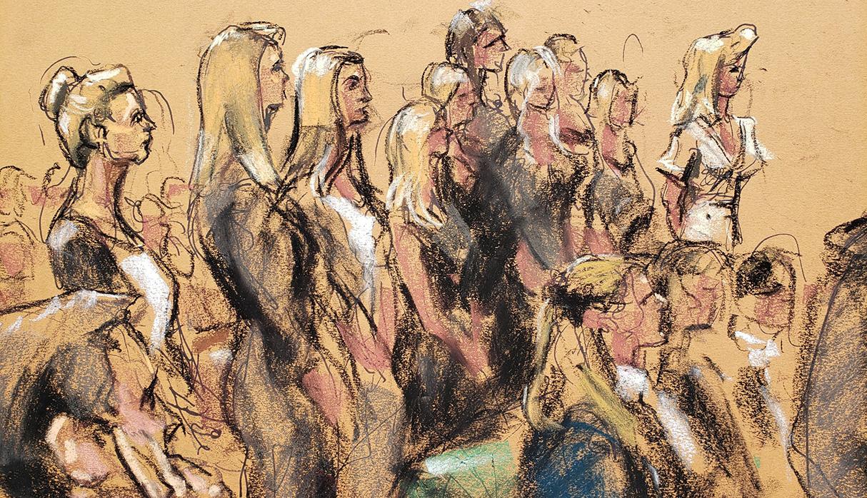 Unas 30 presuntas víctimas de Jeffrey Epstein declararon ante un juzgado de Nueva York. (Foto: Reuters)