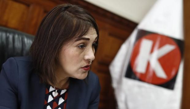 La legisladora Milagros Salazar (FP) ofreció una entrevista a El Comercio.