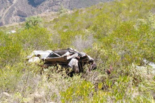 Las causas del accidente vehicular vienen siendo investigado. (Foto: Jorge Menacho Asencio/Andina)