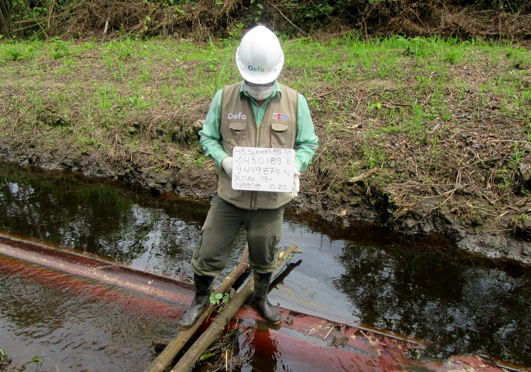 Loreto: OEFA supervisa derrame de petróleo en el Oleoducto Norperuano