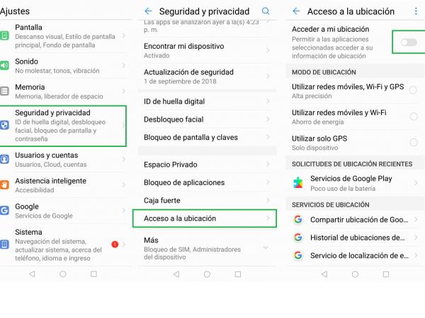 La función 'Acceso a la ubicación' también permite ver cuáles fueron las últimas aplicaciones que solicitaron información de la ubicación del usuario.