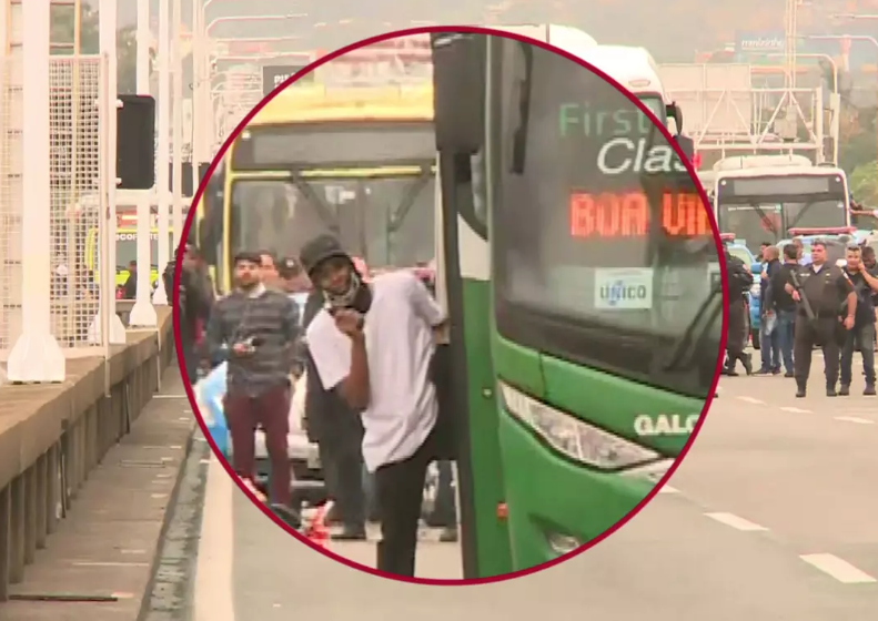 Río de Janeiro: Hombre armado secuestra un autobús con pasajeros y amenaza con explotarlo (Globo.com)