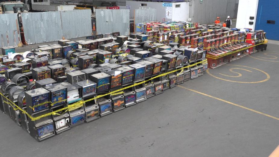 Mincetur destruyó 424 máquinas tragamonedas de uso ilegal