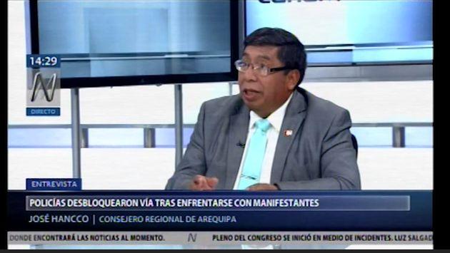"""Tía María: acusan a gobernador Elmer Cáceres de usar protestas como """"cortina de humo a su mala gestión"""""""