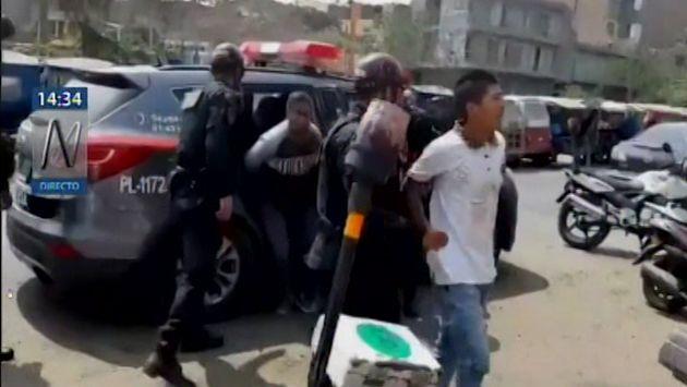 Comas: PNP detuvo a presuntos delincuentes que intentaron asaltar a alumnos de academia Prepolicial   VIDEO