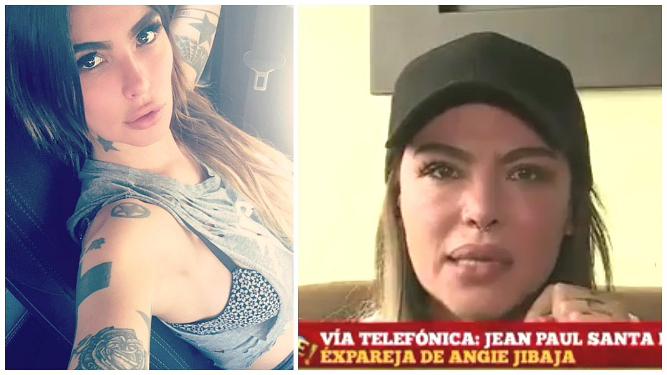 Angie Jibaja angie jibaja muestra su rostro golpeado y denuncia agresión