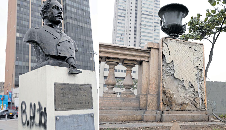 La agonía del Paseo de los Héroes Navales: patrimonio sufre deterioro de monumentos