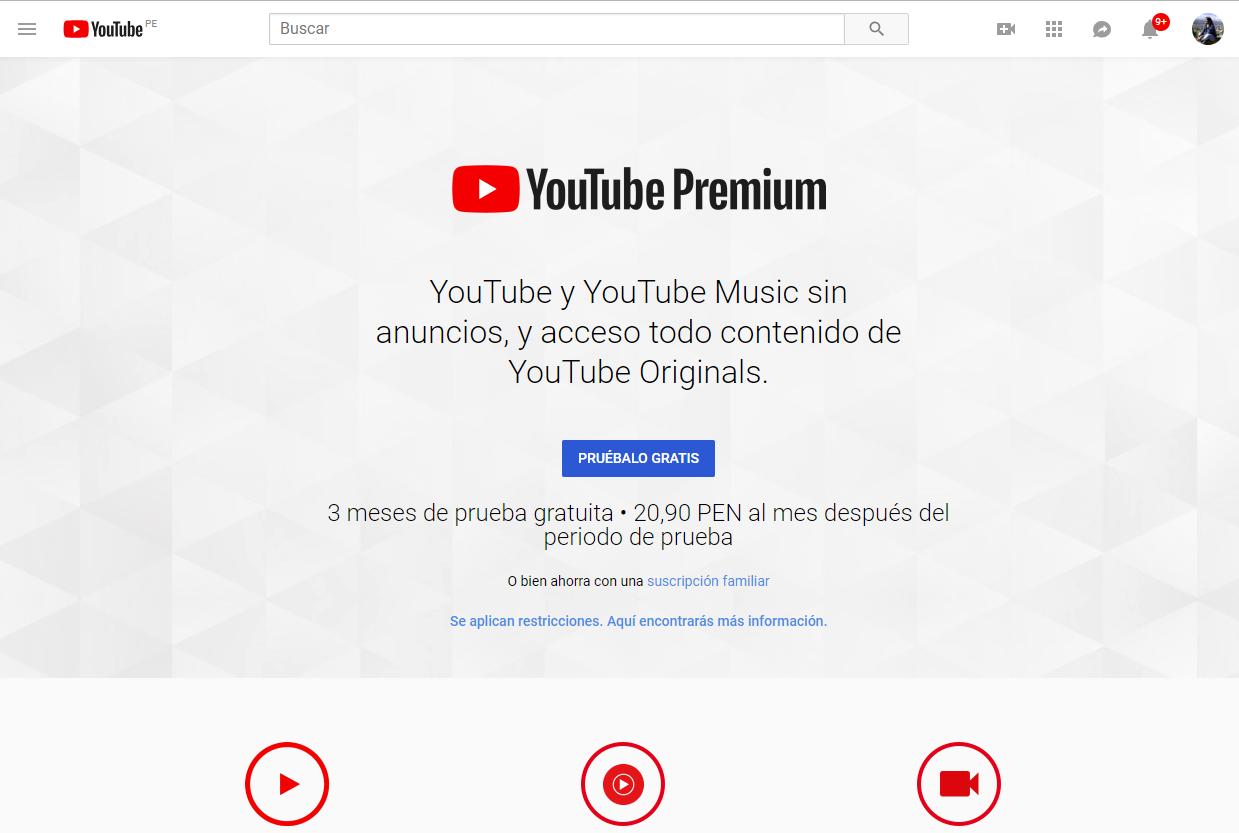 YouTube Premium, es un servicio por suscripción que ofrece a sus usuarios contenidos de calidad sin anuncios y acceso a todo el catálogo de YouTube Originals. (Foto: YouTube)