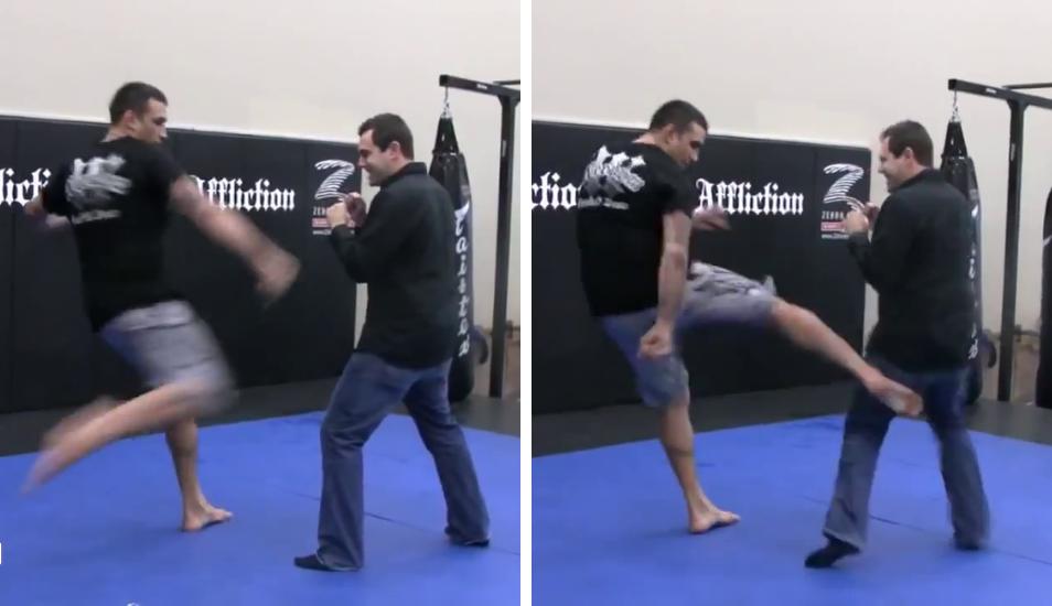 Reportero debió pensarlo dos veces antes de pedirle a luchador de MMA que le dé una patada