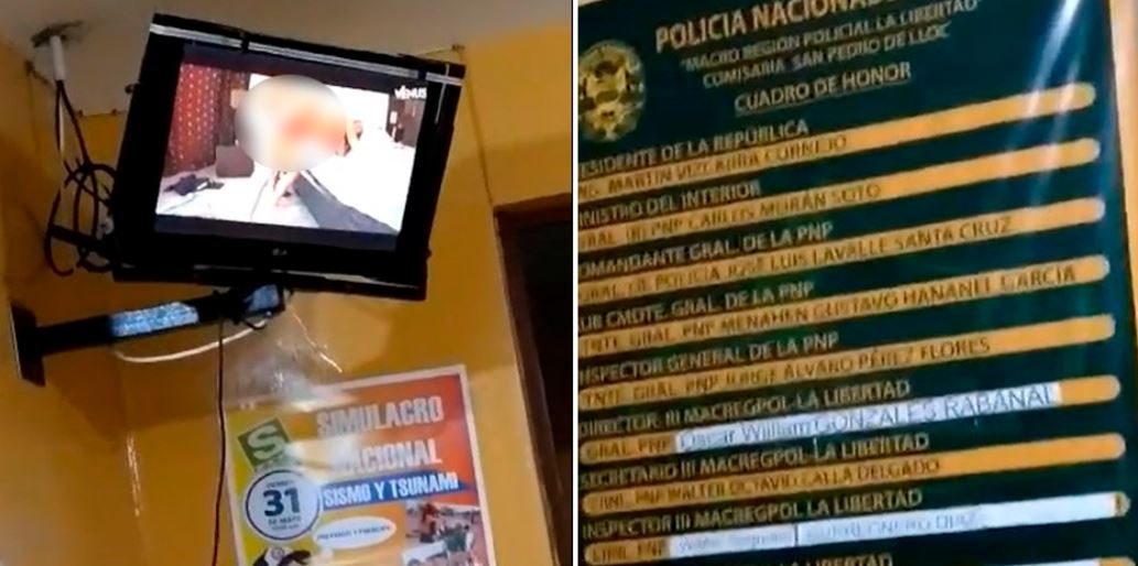 Policías fueron sorprendidos viendo pornografía en la comisaría de Pacasmayo [VIDEO] - Diario Perú21