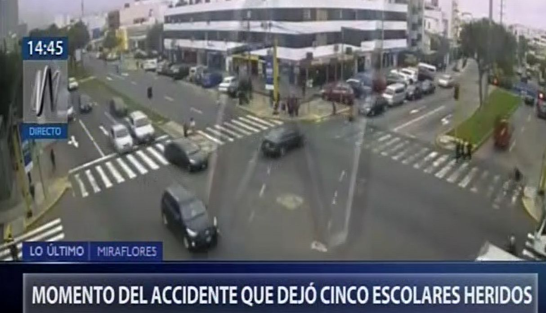 Miraflores: imágenes del atropello a escolares en la avenida Benavides