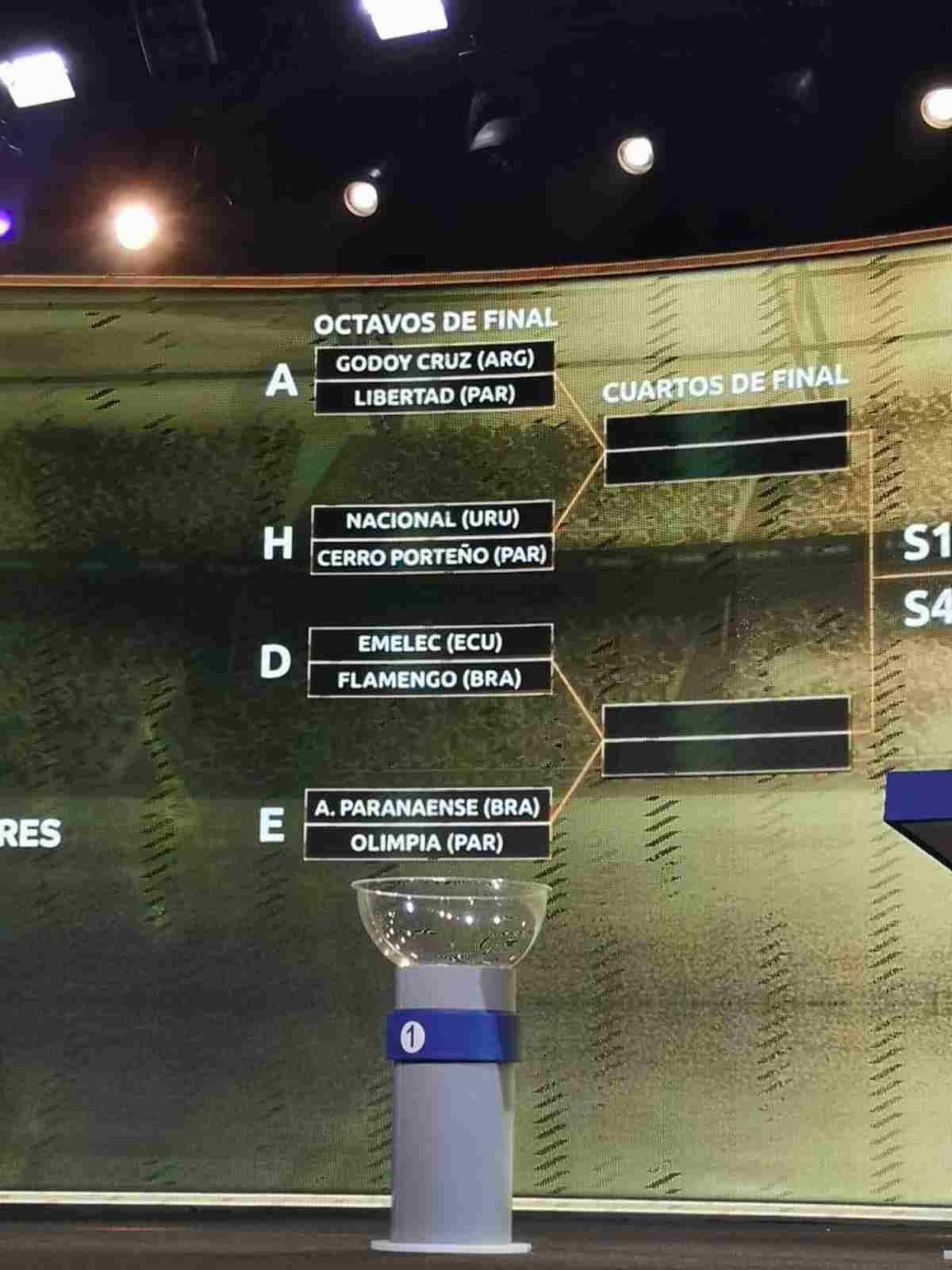 Esto dejó el simulacro de sorteo de la Copa Libertadores 2019. (Captura de Olé)