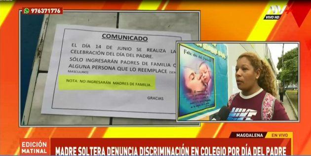 Magdalena: denuncian discriminación en colegio que impide ingreso de madres por el Día del Padre