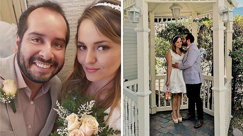 Junior Silva y Carla Tello hicieron locura de amor: Se casaron en Las Vegas (FOTOS)