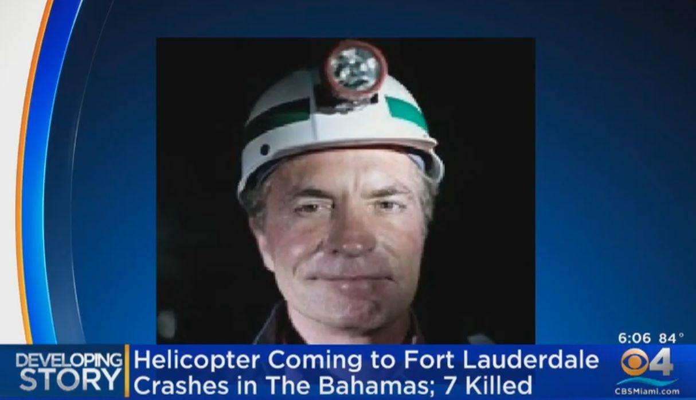 Magnate del carbón Chris Cline muere en accidente de helicóptero en Bahamas