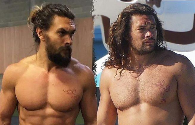 """El antes y después de Jason Momoa luego de protagonizar """"Aquaman"""""""