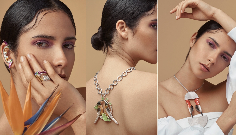 Bogotá Fashion Week: las increíbles joyas de plata pintadas con pigmentos orgánicos