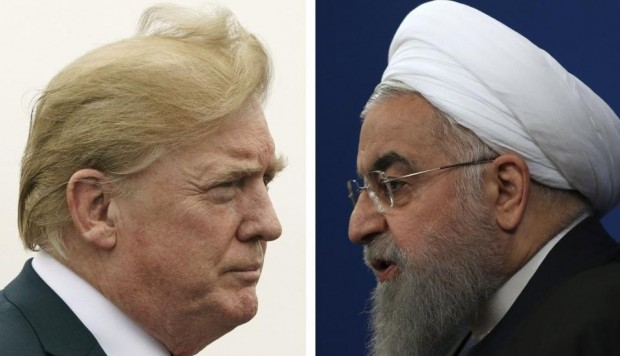 La tensión entre Estados Unidos e Irán se ha acrecentado en este último tiempo. En la imagen, los presidentes Donald Trump y Hassan Rohani. (Foto: AP)
