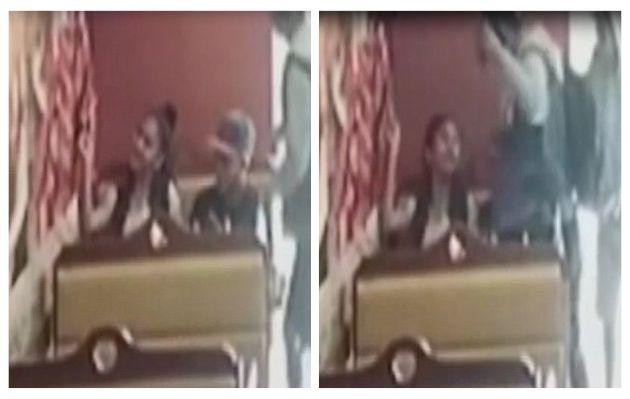 Se tomaban fotos juntos en una pollería y fueron asaltados   VIDEO
