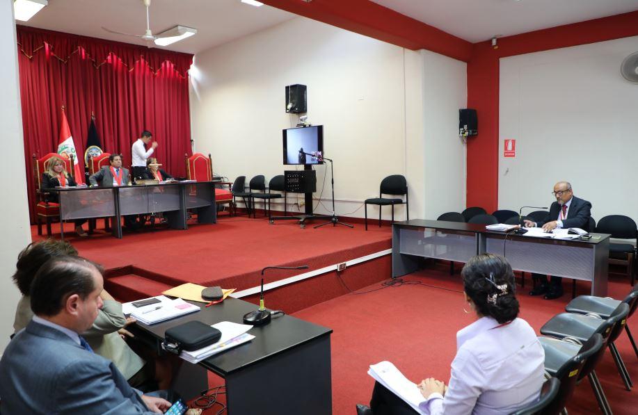 Audiencia en torno al caso Eyvi Ágreda. (Poder Judicial)