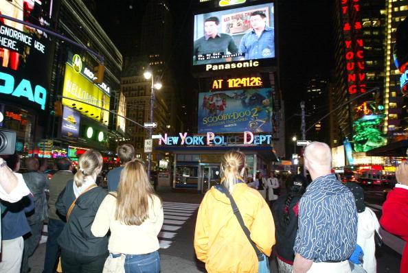 Último capitulo de 'Friends' en Time Square. (GETTY)
