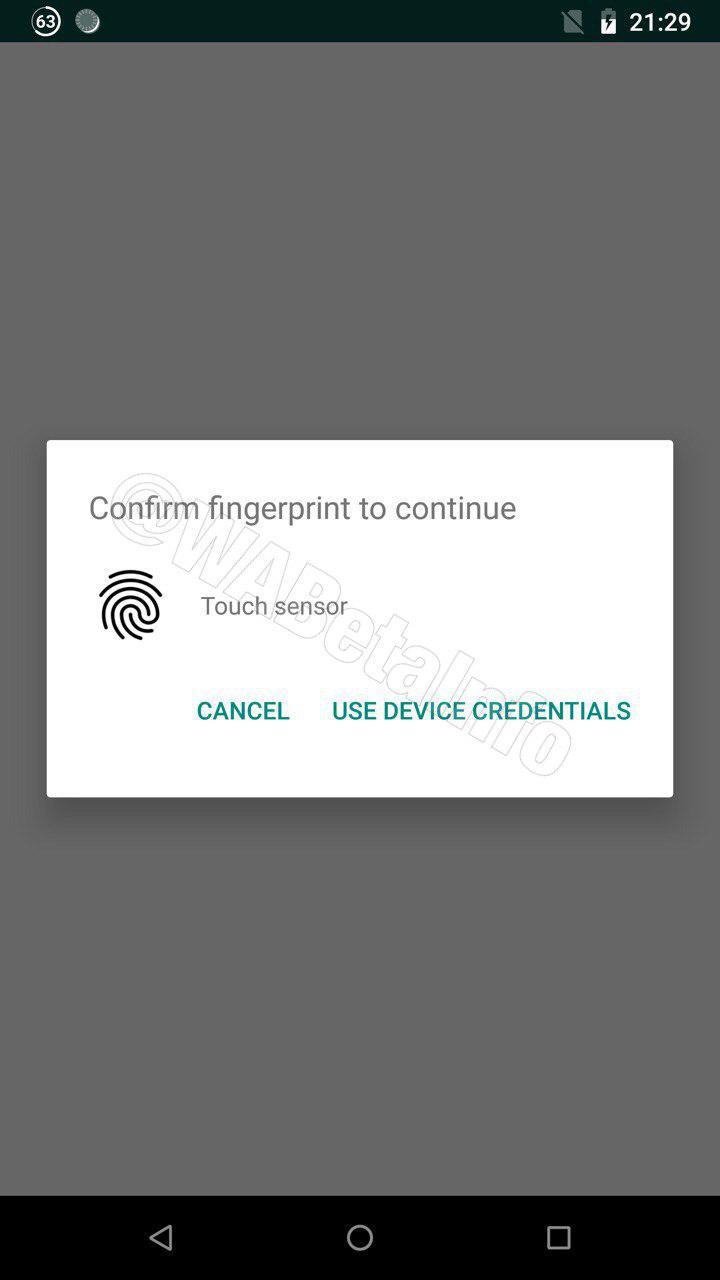 WhatsApp también permitirá utilizar las credenciales del dispositivo sino te reconoce. (Foto: Captura).