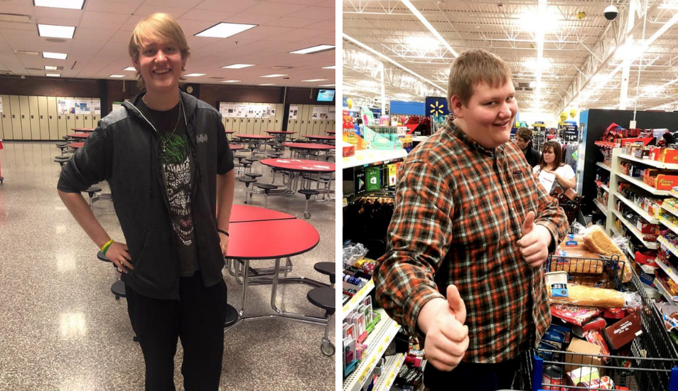 Un adolescente pierde 50 kilos caminando todos los días de su casa a la escuela por 3 años
