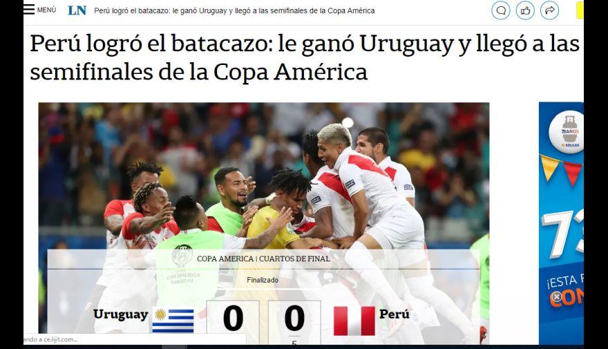 Perú vs. Uruguay: la reacción de la prensa mundial tras clasificación de 'Blanquirroja' a semifinales