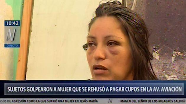 La Victoria: agreden a vendedora ambulante que se rehusó a pagar cupo en la Av. Aviación | VIDEO