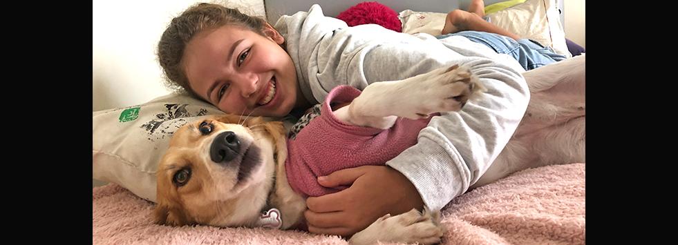 Cómo adoptar a Vaquita cambió la vida de esta familia