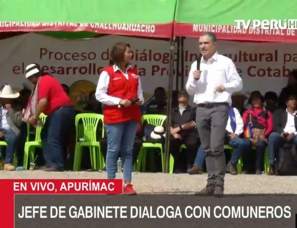 Titular del Midis será la encargada de que los compromisos entre los comuneros y Estado se cumplan   VIDEO
