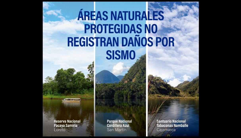 Fuerte sismo en Loreto no causó daños en áreas naturales protegidas