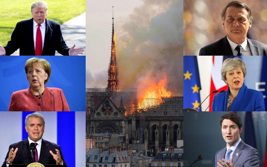 El mundo deplora el incendio en la catedral de Notre Dame | FOTOS