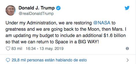 Donald Trump apoya este nuevo proyecto. (Twitter)